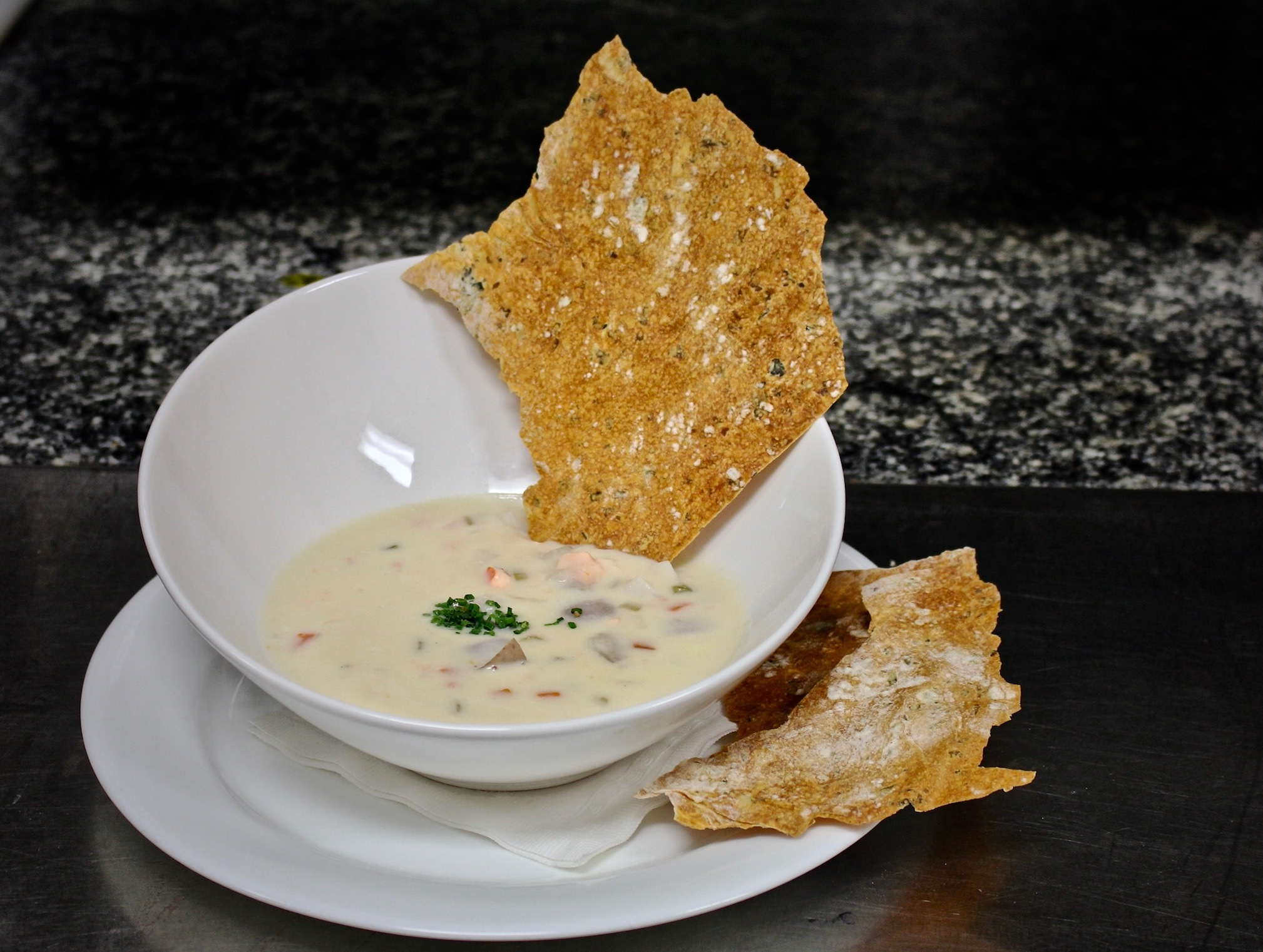 There are many ways to enjoy the Northumberland Shore's signature clam, but this quahog chowder is our favourite.