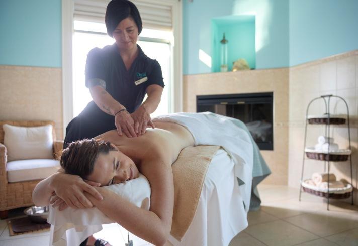 Rejuvenating massage at Fox Harb'r Resort
