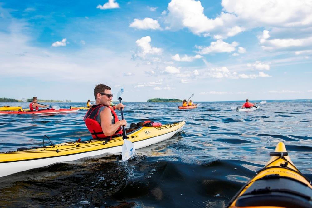 Kayaking at Fox Harb'r